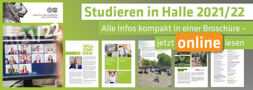 Banner Broschüre Studieren in Halle 2021/22